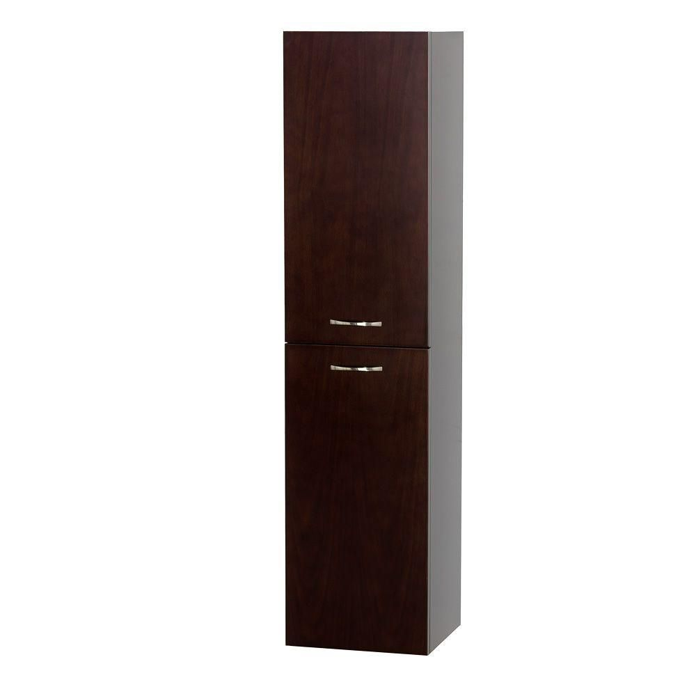 Wyndham Collection Accara 13-5 In. W x 12.25 In. D x 56 In. H Side Cabinet in Espresso