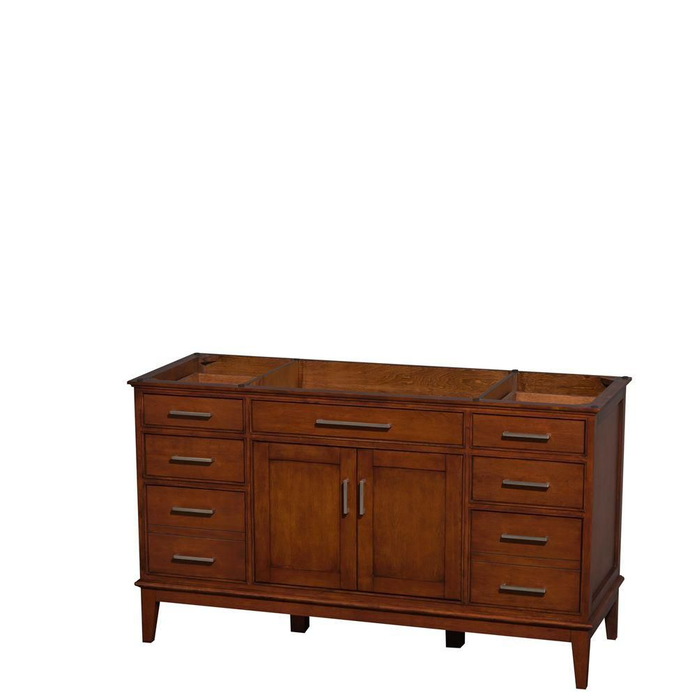 Hatton 59-Inch  Vanity Cabinet in Light Chestnut