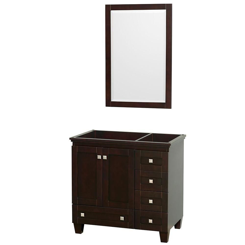 Wyndham Collection Acclaim 36-Inch  Vanity Cabinet with Mirror in Espresso
