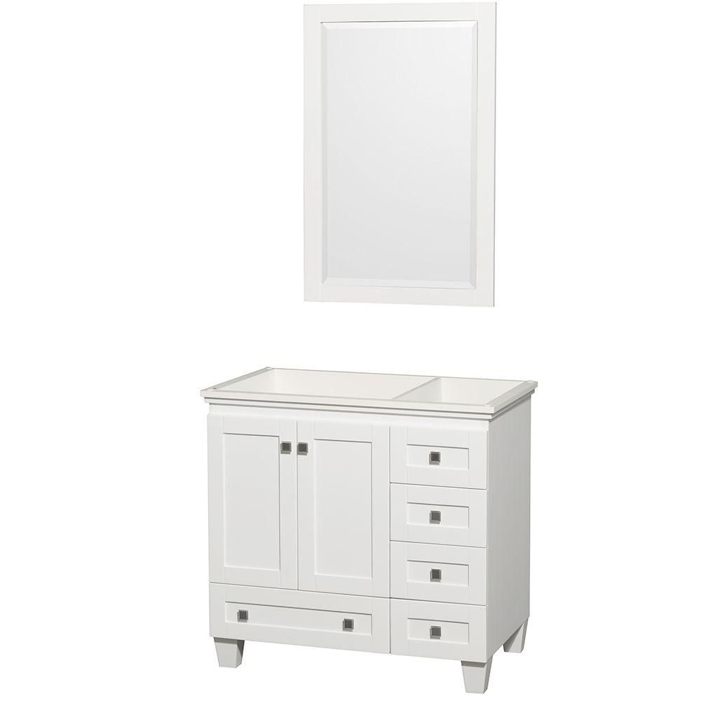 Wyndham Collection Acclaim 36 Inch W 5 Drawer 2 Door Vanity In White With Mirror The Home