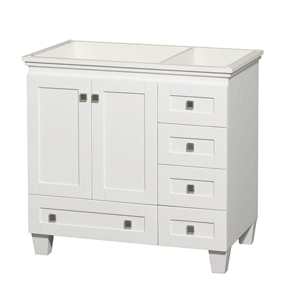Wyndham collection acclaim 36 in single vanity cabinet only in white the home depot canada Stores to buy bathroom vanities