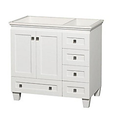 Acclaim 36 Inch Vanity Cabinet In White
