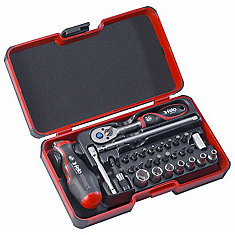 Felo Smart II avec poignée 2 composants: tournevis et poignée en T en un. 29 pièces dans StrongBox
