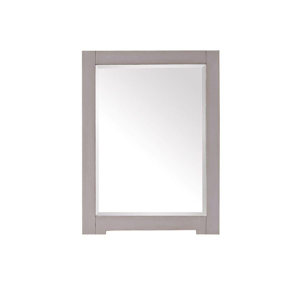 Avanity Kelly 32-inch L x 24-inch W Framed Wall Mirror in Greyish Blue