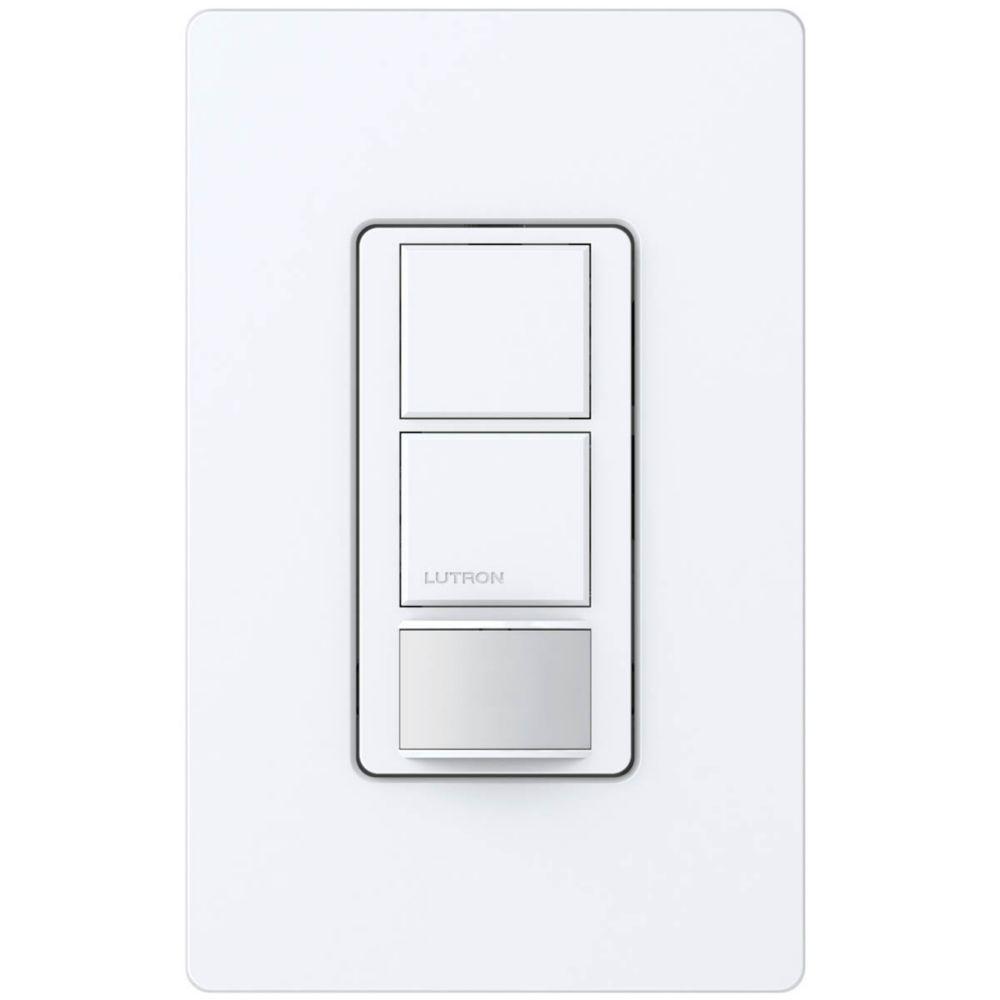 Maestro 6-Amp Single Pole Dual Circuit Occupancy Sensor Switch, White
