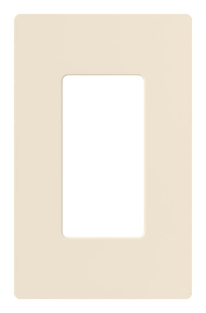 Claro 1-Gang Wallplate, Light Almond
