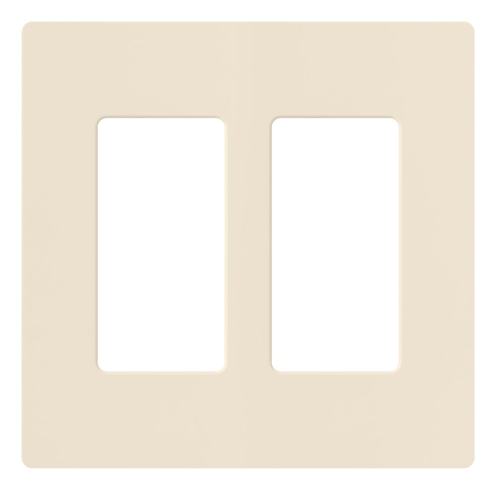Lutron Claro 2-Gang wall plate, Light Almond