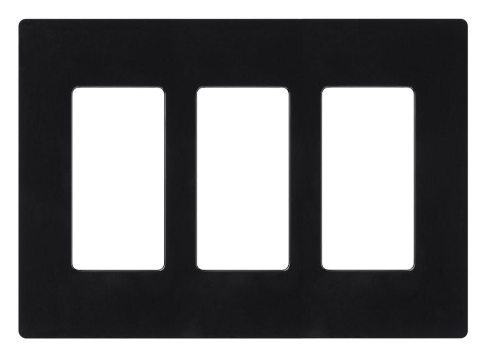 Claro 3-Gang Wallplate, Black