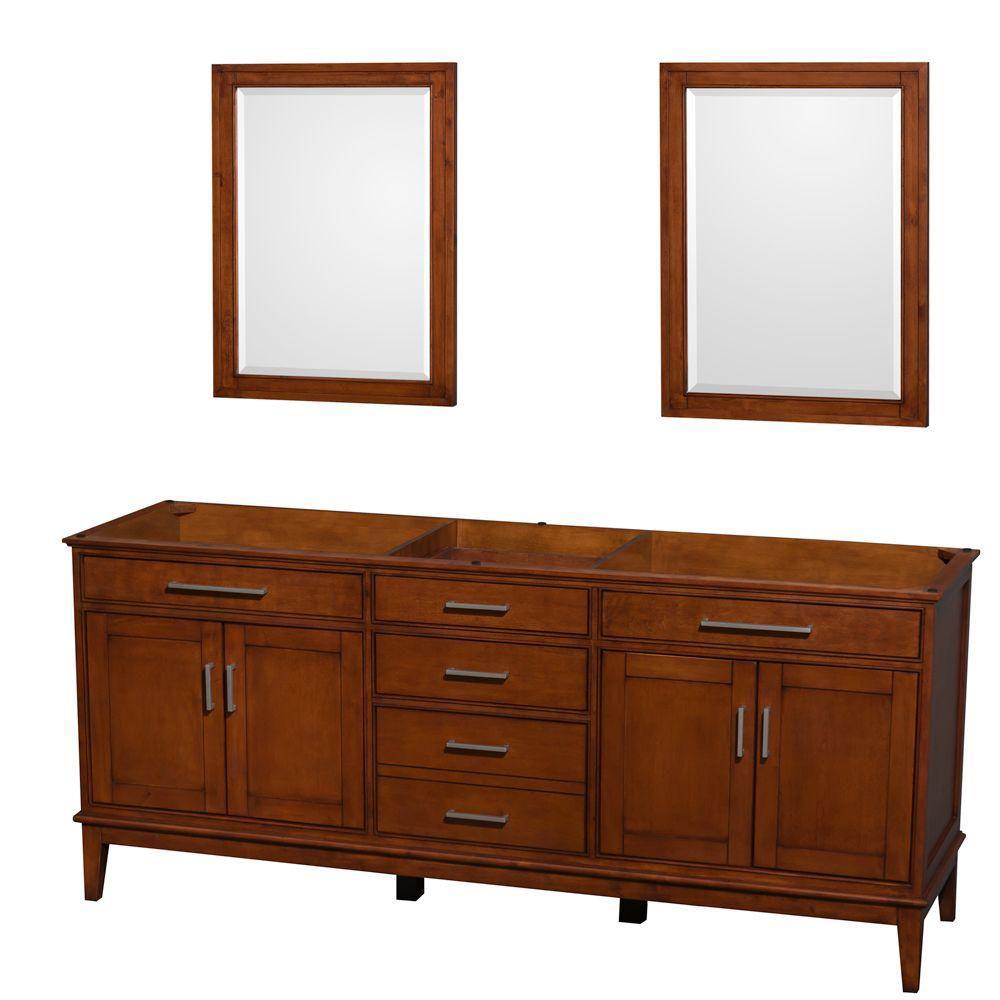 Hatton 199cm 78,5po Meuble avec miroir en châtain clair