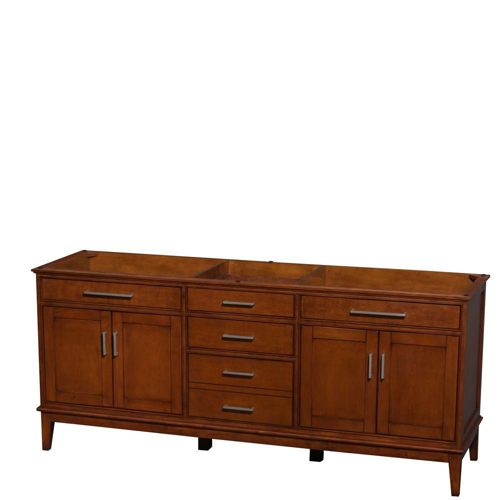 Hatton 78 1/2-Inch  Vanity Cabinet in Light Chestnut