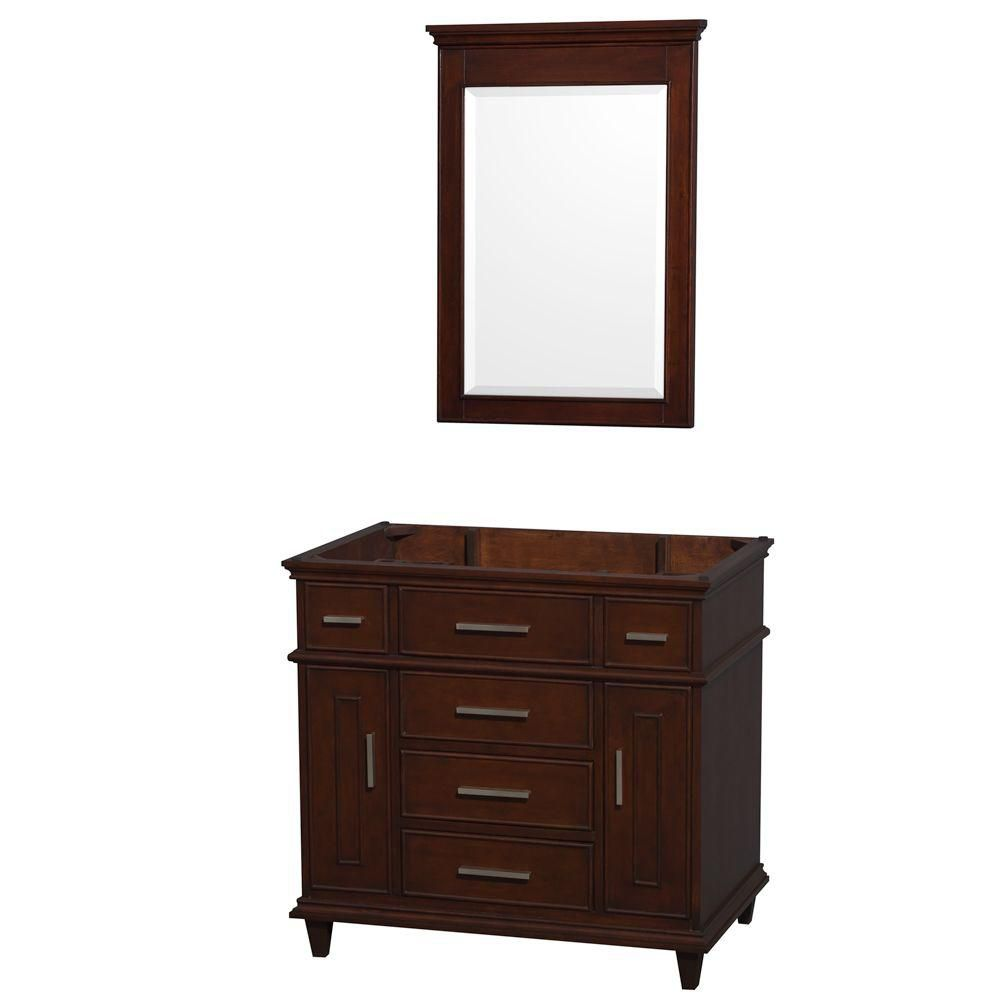 Berkeley 36 In. Vanity Cabinet with Mirror in Dark Chestnut WCV171736SCDCXSXXM24 in Canada