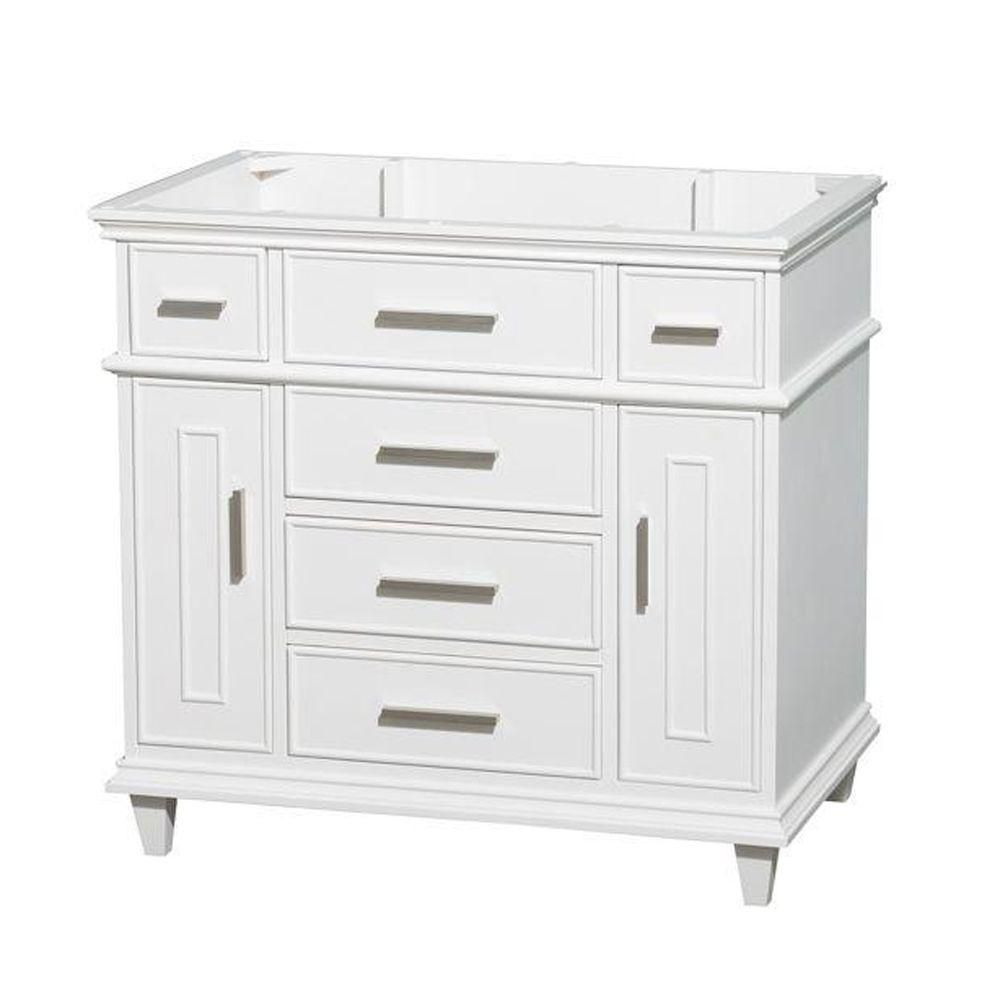 Wyndham Collection Berkeley 36-Inch  Vanity Cabinet in White