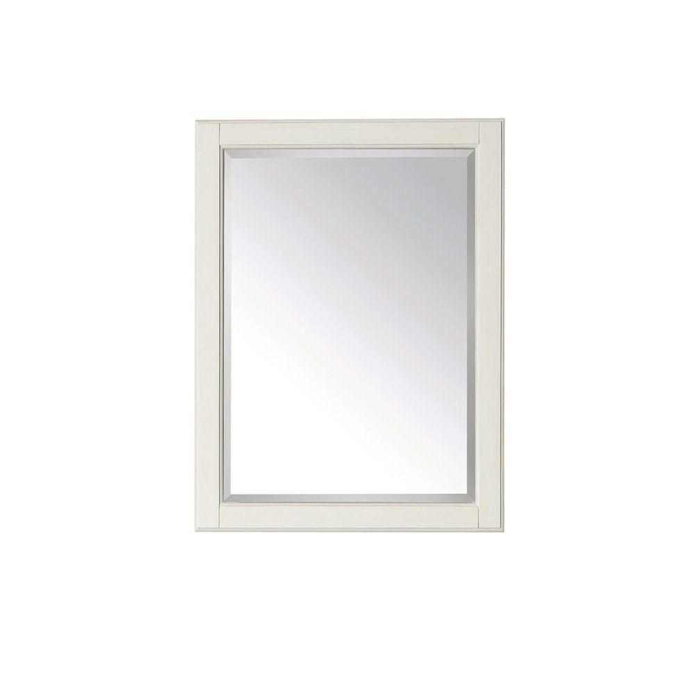 Avanity Hamilton 32-inch L x 24-inch W Framed Wall Mirror in French White