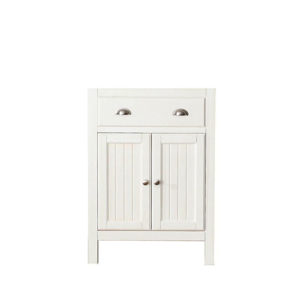 Hamilton 24-Inch  Vanity Cabinet in French White
