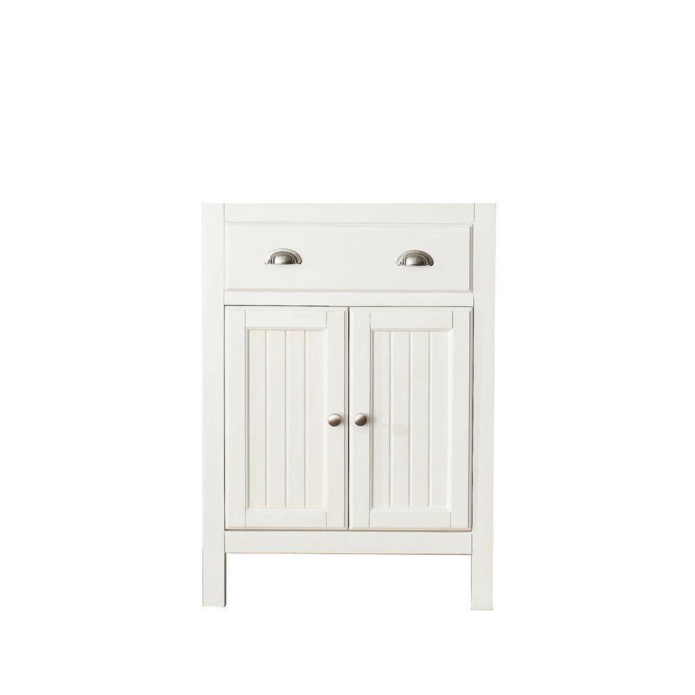 Avanity Hamilton 24-Inch  Vanity Cabinet in French White