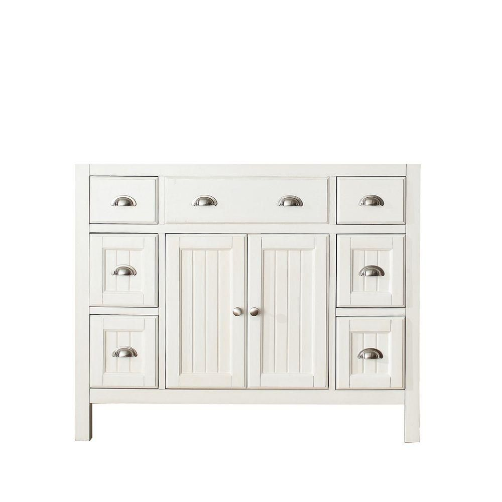 Hamilton 42-Inch  Vanity Cabinet in French White