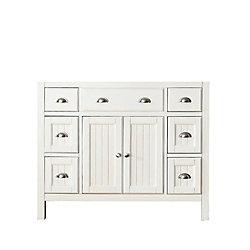 Avanity Hamilton 42-Inch  Vanity Cabinet in French White