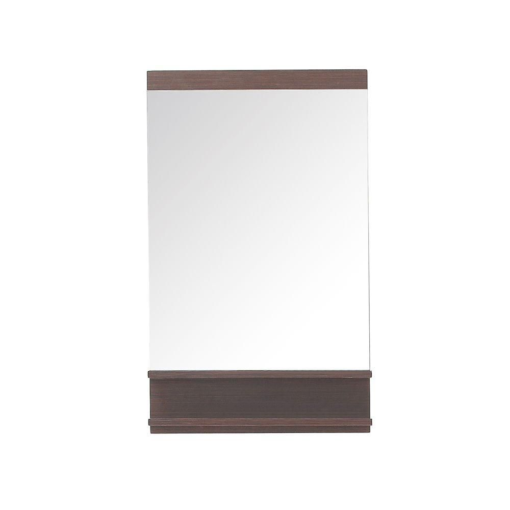 Milo 22 In. Mirror in Iron Wood Finish MILO-M22-IW Canada Discount
