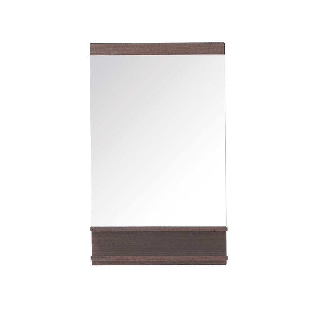 Avanity Milo 35-inch L x 22-inch W Wall Mirror in Iron Wood