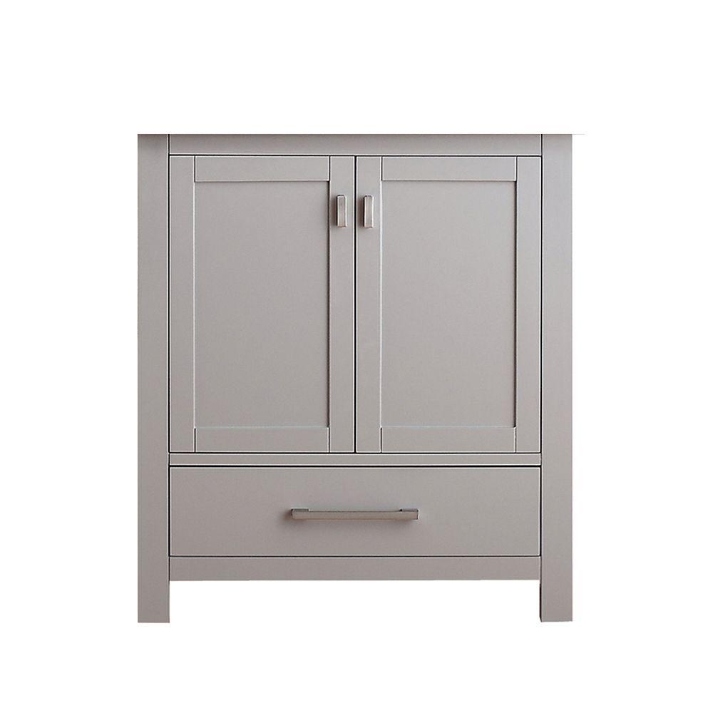 Avanity Modero 30-Inch  Vanity Cabinet in Chilled Grey