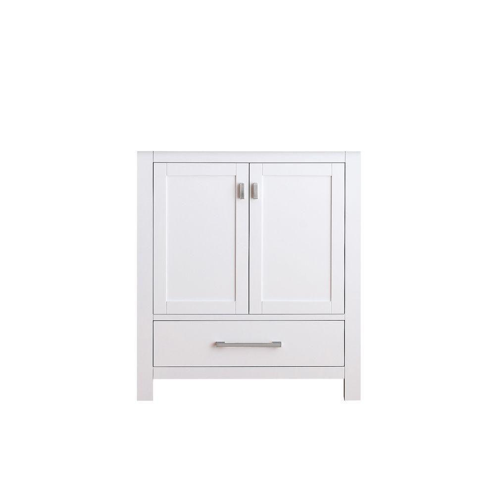 Meuble-lavabo Modero de 30 po au fini blanc