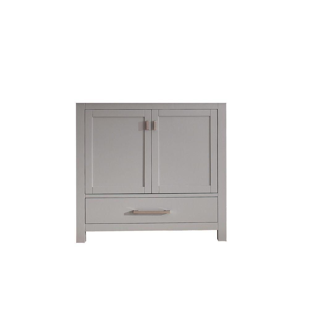 Modero 36-Inch  Vanity Cabinet in Chilled Grey