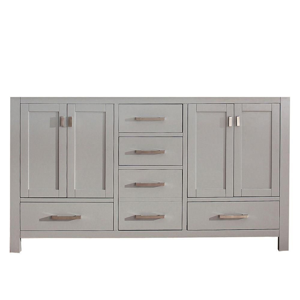 Avanity Modero 60-Inch Double Vanity Cabinet in Chilled ...