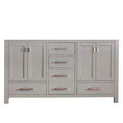 Avanity Modero 60-inch  Double Vanity Cabinet in Chilled Grey