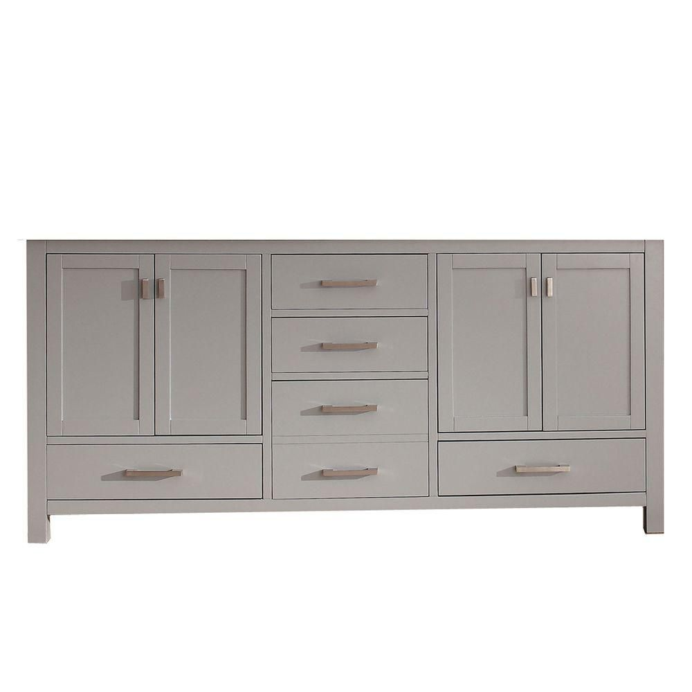 Modero 72 In. Double Vanity Cabinet Only in Chilled Gray MODERO-V72-CG in Canada