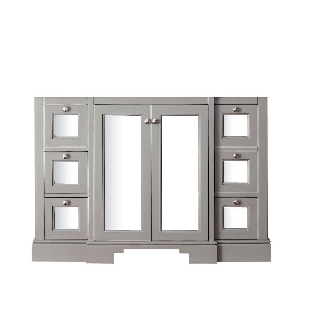 Newport 48-Inch  Vanity Cabinet in French Grey