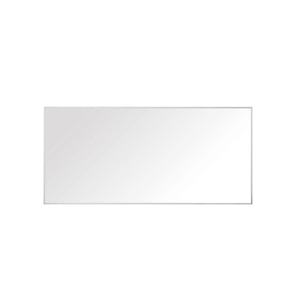 Avanity Sonoma 28-inch L x 59-inch W Framed Wall Mirror in Nickel