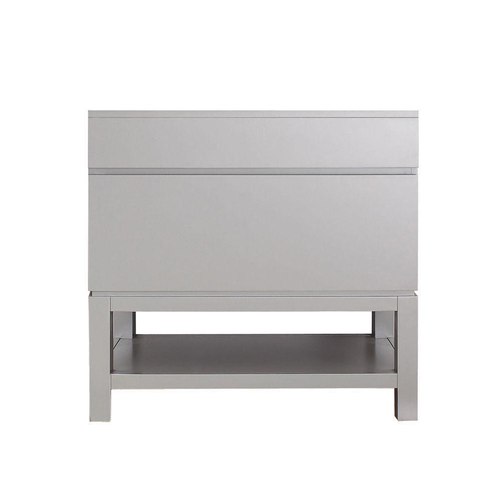 Meuble-lavabo Tribeca de 36 po avec base au fini gris froid