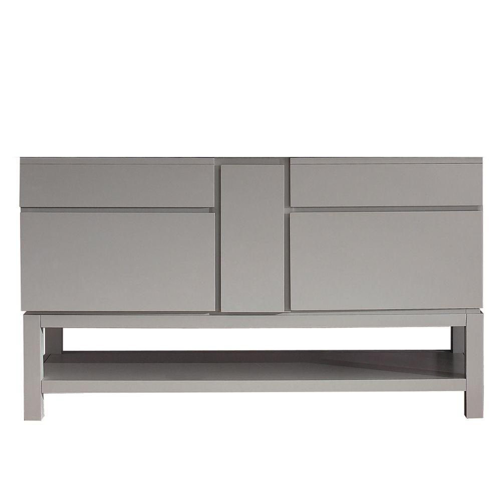 Tribeca 60-Inch  Vanity Cabinet in Chilled Grey