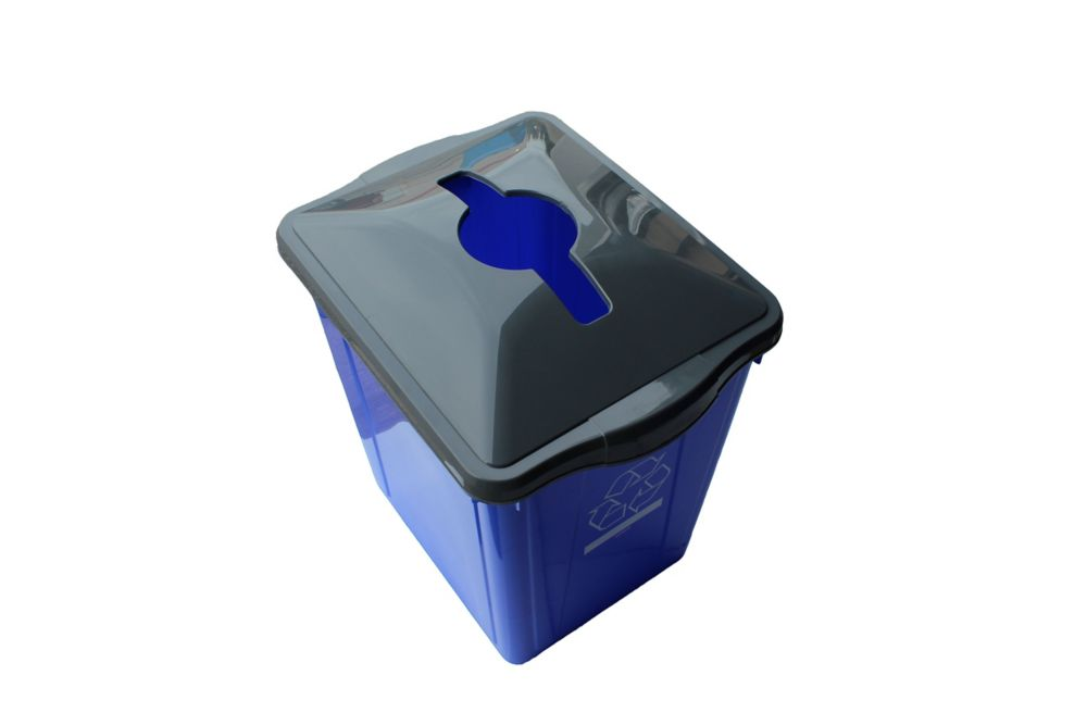 22 Gal. Recycling Box with Square Paper Slot Recycling Top