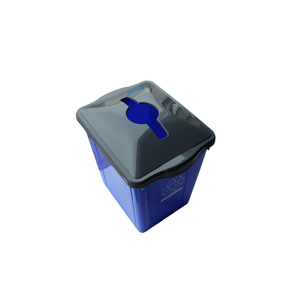 Enviro World 15 Gal. Recycling Box with Square Paper Slot Recycling Top