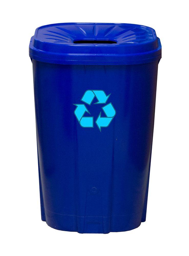 Enviro World 55 gallon Recycling bin Blue