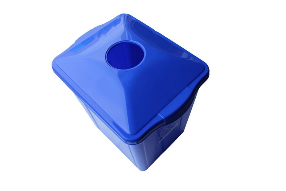 Recycling Box 15 gl. with bottle and can top