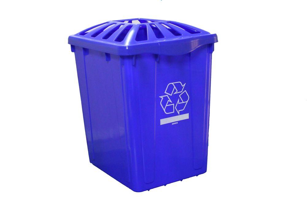 Boîte de recyclage de 15 gl. Avec couvercle standard