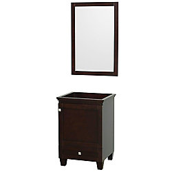 Wyndham Collection Acclaim Vanity Cabinet with Mirror in Espresso