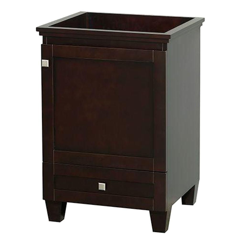 Wyndham Collection Acclaim 24-inch W 1-Drawer 1-Door Vanity in Brown