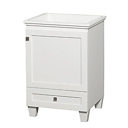 Wyndham Collection Acclaim 24-inch W 1-Drawer 1-Door Vanity in White