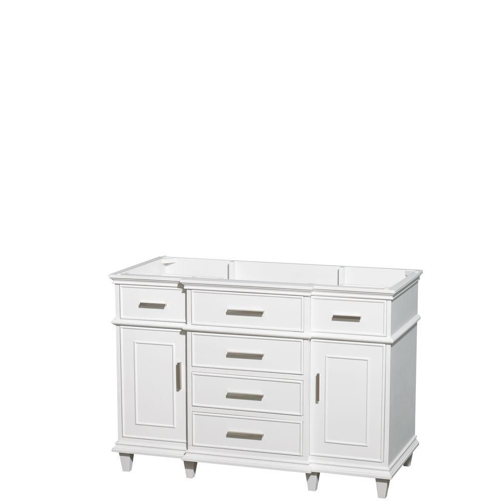 Berkeley 48-Inch  Vanity Cabinet in White