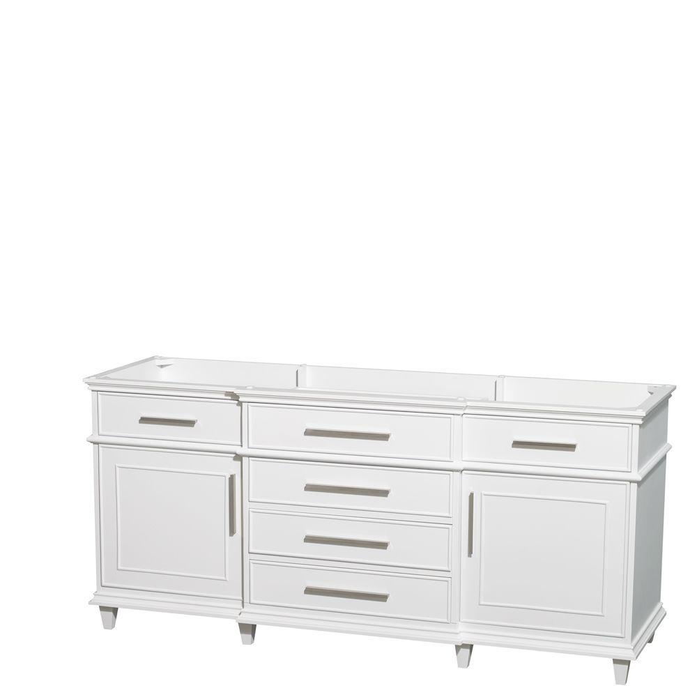 Berkeley 72-Inch  Vanity Cabinet in White