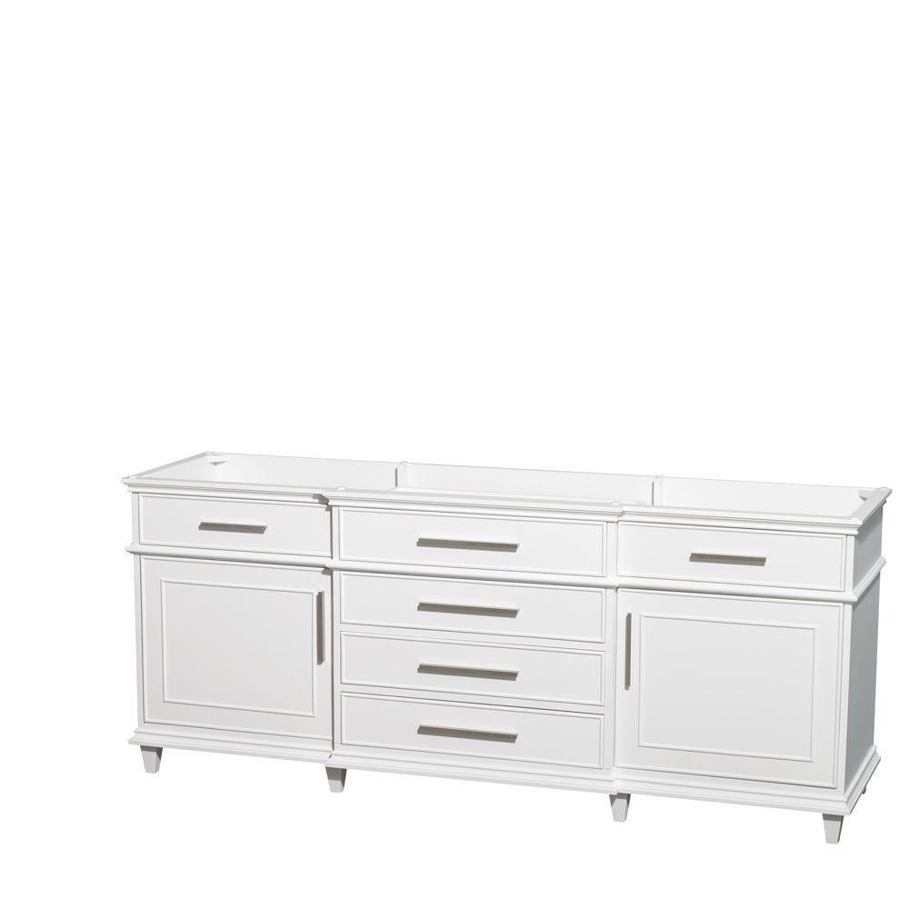 Berkeley 80-Inch  Vanity Cabinet in White