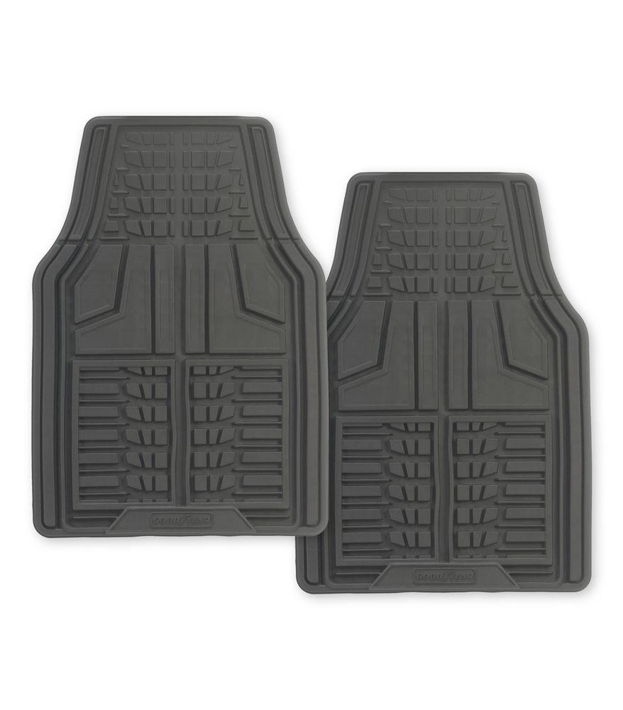 Premium 2 Piece Goodyear Rubber Car Mat - Grey