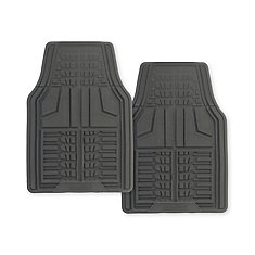 Premium 2 Piece Goodyear Rubber Car Mat - Grey