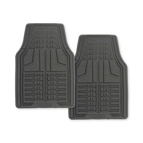 Goodyear Premium 2-Piece Rubber Car Mat - Grey