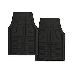 Goodyear Premium 2-Piece Rubber Car Mat - Black