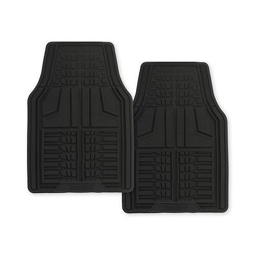 Goodyear Premium 2-Piece Rubber Car Mat - Black