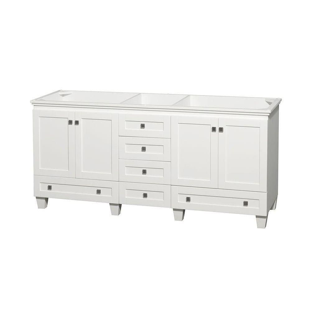 Wyndham Collection Acclaim 72-Inch  Double Vanity Cabinet in White